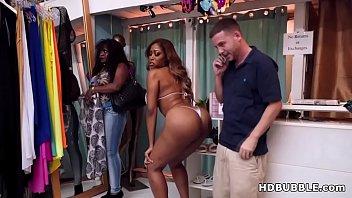ass ebony stunner boinks in the bathing suit.