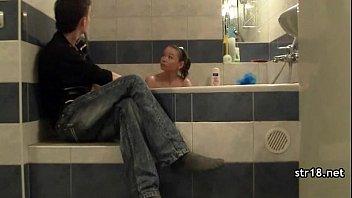 a youthfull duo make a lovemaking.