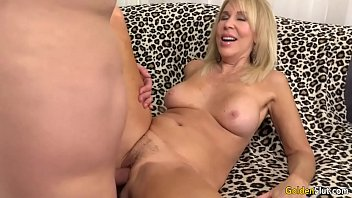 mature ash-blonde erica lauren showcases off her slit.