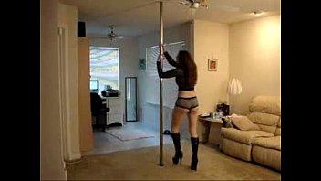 crimson-hot gal pole dancing in wonderful underwear - spankbangorg