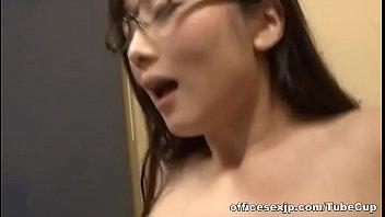 supah-naughty japanese av model in glasses tempts youthful fellow