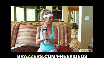insatiable good-sized-orb blondie yoga cougar brandi love takes.