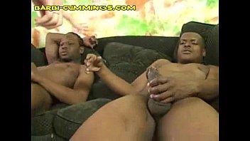two ebony folks share barbi