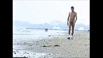 amatorial youthfull boy ambling bare on.