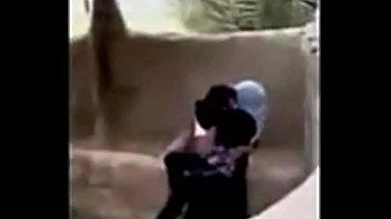 saudi boy romping syrian hijab lady.