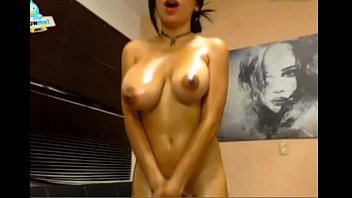 brilliant tits bouncing while she spunks.