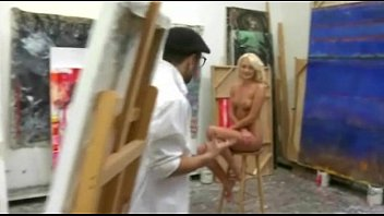 nude painting with 18yo ash-blonde leads to steamy.