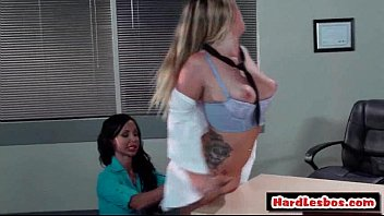 xxx buxomy girl-on-girl bang-out pornography flick.