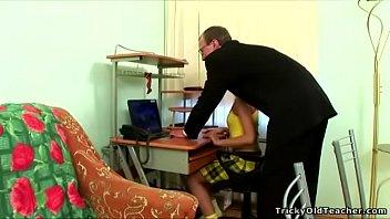 tricky elderly schoolteacher - supah-pulverizing-hot teenager doll deepthroats.