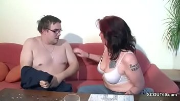 german mommy helps her gross step-sonny with very.
