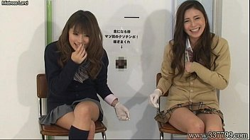 japanese gal domination give hand-job and cuni to.