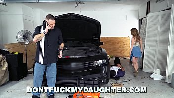 18yo nubile lilly ford drills daddy039_s mechanic pal dfmd15754