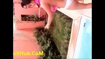 marvelous arabian damsel torrid nude bathtub in swimming pool