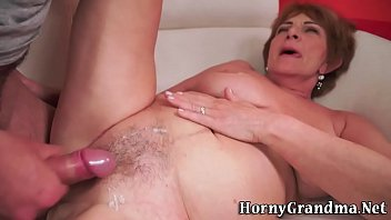 elderly granny gets railed