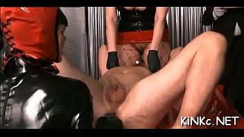 2 unrepining subs of supah-naughty dominatrix.
