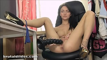 smallish belle claire puss opening up with cruel faux-cock