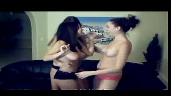 trio steamy brunettes are dancing on web web.