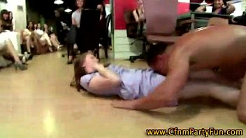 cfnm inexperienced soiree gals blow stripper.