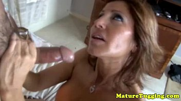 meaty breasted mature kneading trouser snake