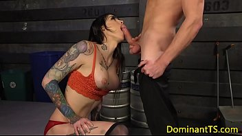 giant-titted trans squirts jizz in hunks.