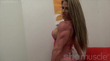 jaw-dropping damsel bodybuilder demonstrates off ideal.