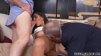 elderly dude bang youthful staycation with a mexican cutie