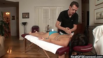 realgfs ndash_ steamy brown-haired gets moist from oil rubdown