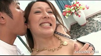 jaw-dropping japanese honey taunting with her.