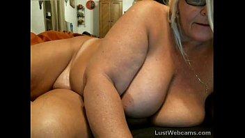 lush mature drains on web cam