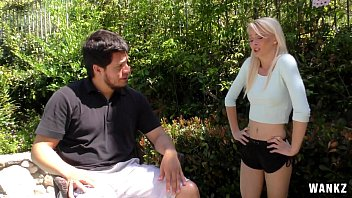 irresistible blond teenager maddy rose gags on shaft hd