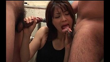 japanese bitch providing a great dual deep facehole.