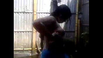 bangla woman bathing