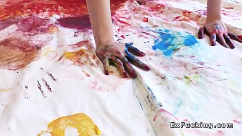 spectacular artist is painted and drilled