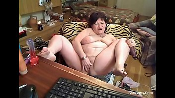 insatiable 52 year elderly grannie wanking