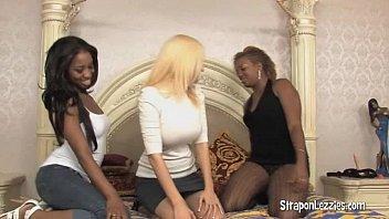 dark-hued lesbos got a milky girl