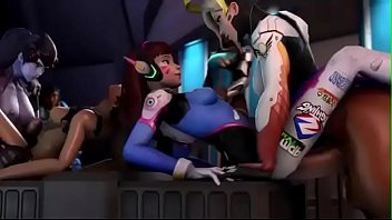 3 dimensional chesty animated overwatch ladies.