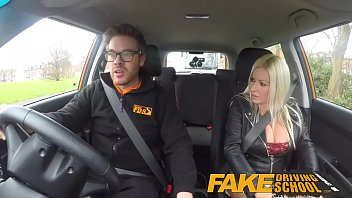faux driving school spurting ejaculation buxom cougar takes.
