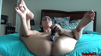 drilling my poke stick in a swimsuit solo ejaculation