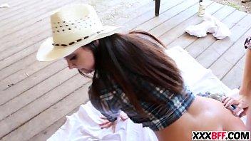 farm women sharing a rigid spunk-shotgun
