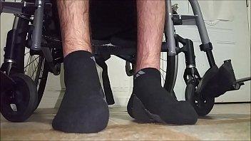 my paraplegic feet with socks toes.