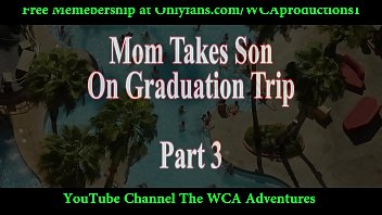 mummy takes stepson on graduation tour.