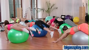 gym cougar and students threesomeamy redamp_anne simoneamp_bianca bennetamp_luna.