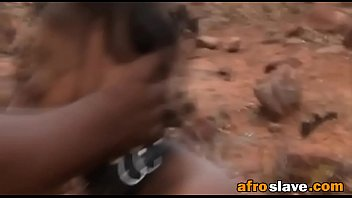 african doll is trussed and fed to rip.