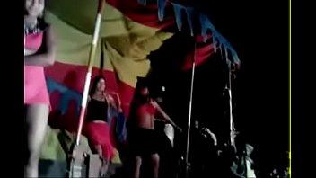 Erotic dancers during village jaatra. One girl shamelessly displaying her hairy