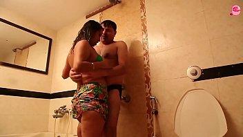 Husband Wife Romance in Bathroom Hot short film