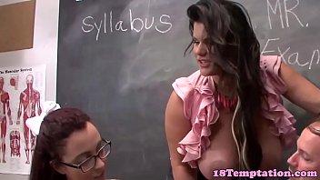 virginal spex teenie milking off schoolteacher