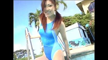 japanese nymph in swimming pool