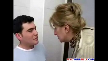 mature mummy stepson bang-out in restroom