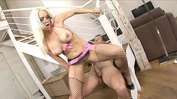 blondie stacy silver in high high-heeled slippers and.