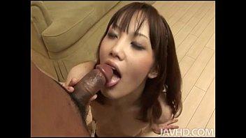 japanese tramp slurps his rosy pucker.